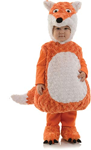 Swiper Halloween Costumes (Underwraps Toddler's Fox Belly Babies Costume, Orange/White, Large)