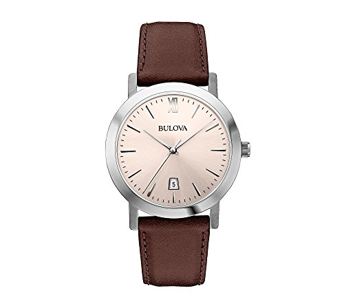 Bulova-Mens-Brown-Strap-Watch