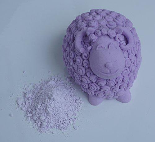 Duftstein Pulver Giessmasse formen giessen 1kg - Weis, Rosa, Lila, Blau, Gelb, Grün (Lila)