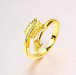 Plated 24K gold Arrow ring for women