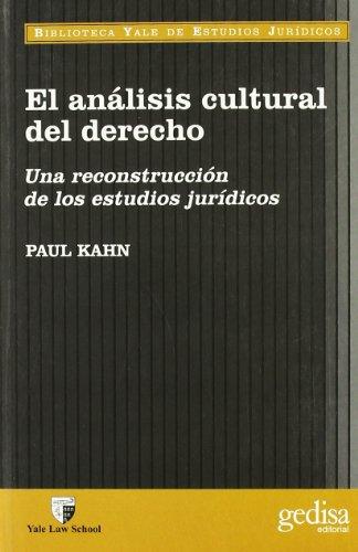 Descargar Libro Analisis Cultural Del Derecho Paul W. Kahn