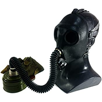 Genuine Original Soviet Russian Child Gas Mask PDF-2sh with hose Black USSR face mask Respirator Novelty use deco (Small)