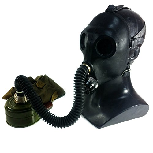 Genuine Original Soviet Russian Child Gas Mask PDF-2sh with hose Black USSR face mask Respirator Novelty use deco (Small) -