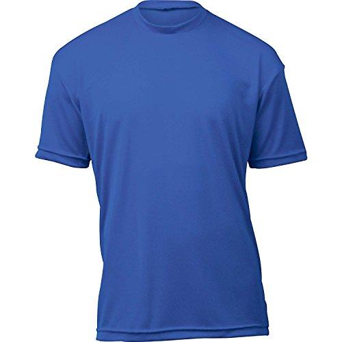 WSI Microtech Camisa holgada de manga corta, azul real, grande para jóvenes