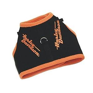 Harley-Davidson® Adjustable Vest Style Harnesses for Smaller Dogs. Small, Orange.