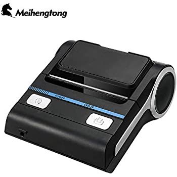 Meihengtong Bluetooth Receipt Printers Wireless Thermal Printer 80mm Compatible with Android/iOS/Windows System ESC/POS Print Commands Set for Office ...