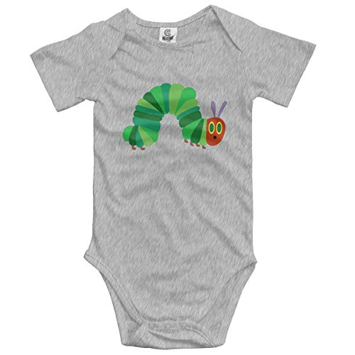The Very Hungry Caterpillar Trucker Short Sleeve Playsuit Bodysuit Outfits Clothes Baby Onesies Gray 12M]()