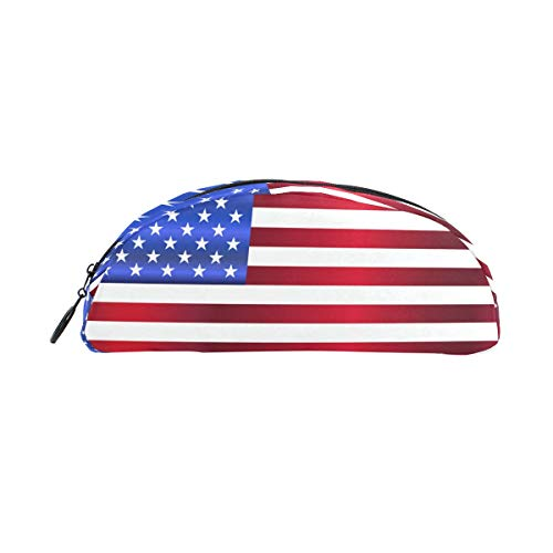 DEZIRO The Old Glory Semicircle Students Stationery Pencil case Cosmetic Bag