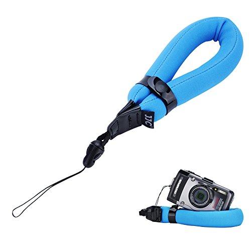 Camera Float Foam Wrist Strap JJC Waterproof Camera Floating Hand Strap for Olympus TG-5 TG-4 TG-3 TG-2 TG-1 TG-870 TG-860 TG-850 TG-810 TG-610 TG-320 TG-310 GoPro HERO4 HERO3+ Canon D10 D20 D30-Blue