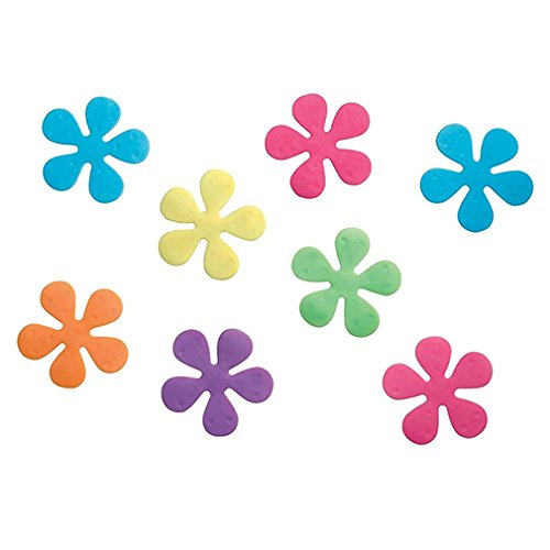 Bathtub Non-Slip Appliques - Rainbow Floral Non-Slip Safety Treads for Shower Bathtub Set of 8