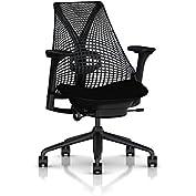 Herman Miller Sayl Task Chair: Tilt Limiter - Adj Lumbar Support - Adj Seat Depth - Fully Adj Arms - Hard Floor...