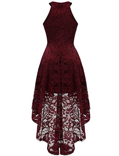 Collo Sera a maniche Bordeaux Vestito Senza Donna U Dressystar Cq5tExw1