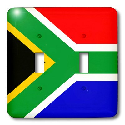 3dRose lsp/_31581/_2 South Africa Flag Double Toggle Switch