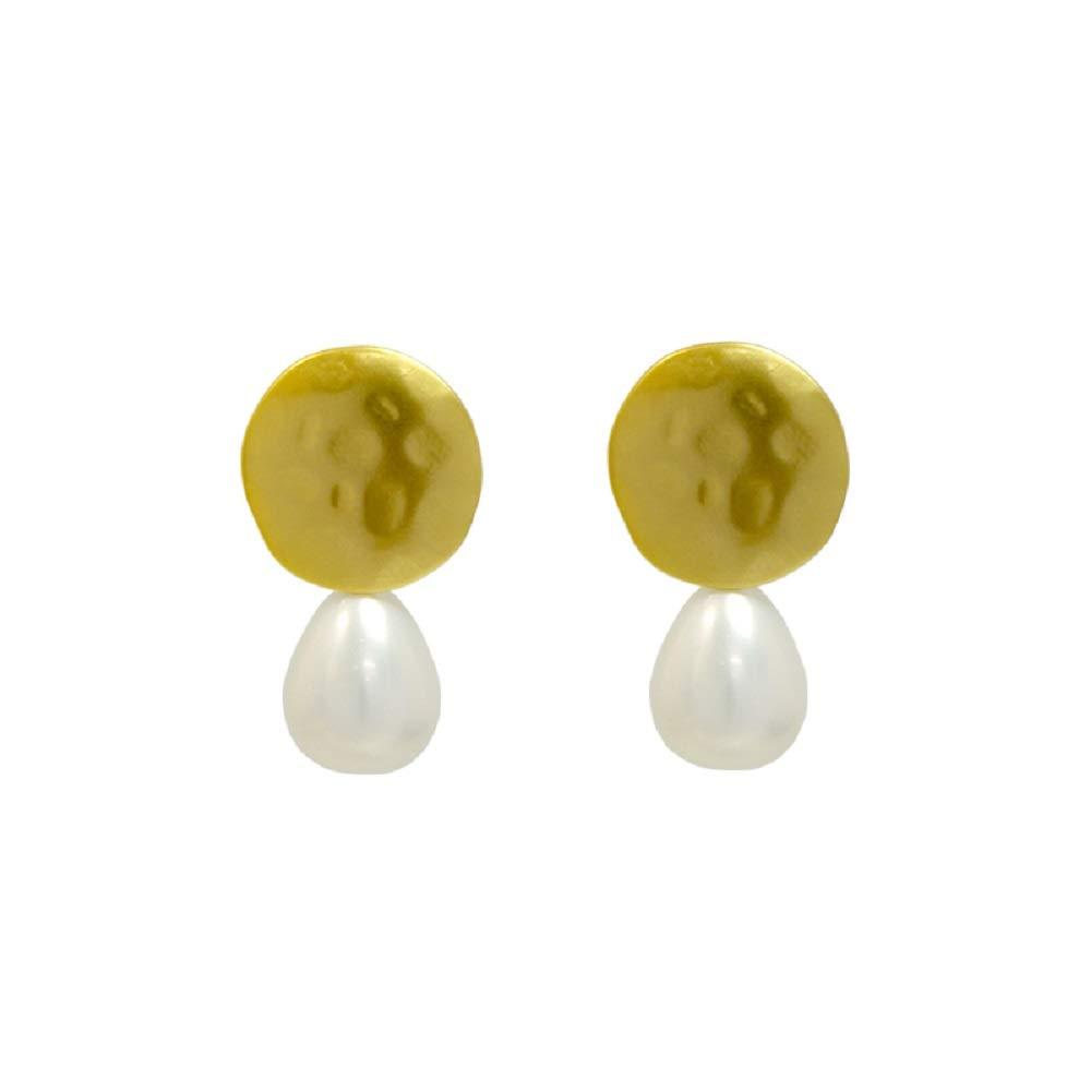 ANNACRI Hypoallergenic Pearl Crystal Stone Earrings Drop Earrings for Women and Girls