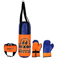 DIXON Royal Punching Kit for Kids Less Than 8 Years. with Helmet and Gloves and a Strong Carry Bag