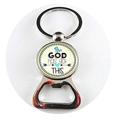 God Has Got This Necklace Christian Life Faith Inspired Jewelry Vintage Style Pendant Bird Charm Encourage Card Bottle openers