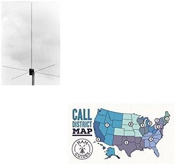 MFJ - Antena base 1750, 2 m, 4 pies, con plano de tierra