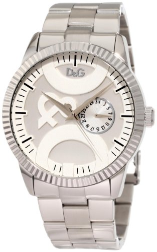 c650cc8b D&G Dolce & Gabbana Men's DW0755 Twin Tip Round Analog Sub Second Hand Watch