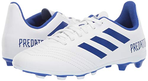 adidas Unisex Predator 19.4 Firm Ground Soccer Shoe White/Bold Blue/Bold Blue, 3 M US Little Kid by adidas (Image #5)