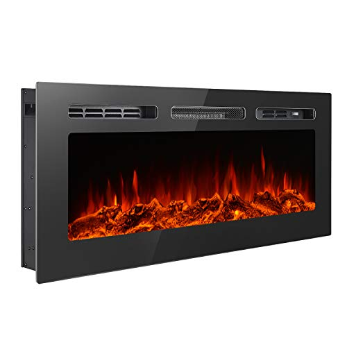 green electric fireplace - 4