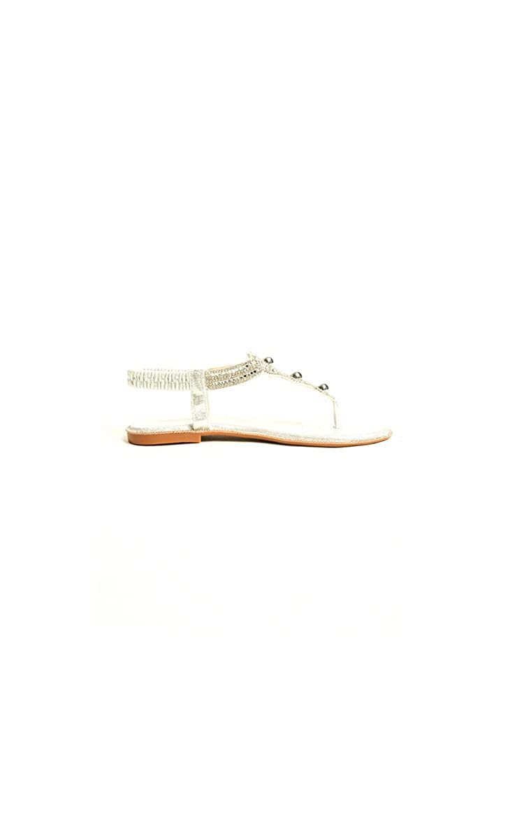 5eee597821ac Ikrush Womens Amerie Diamante Embellished Sandals Silver  Amazon.co.uk   Shoes   Bags