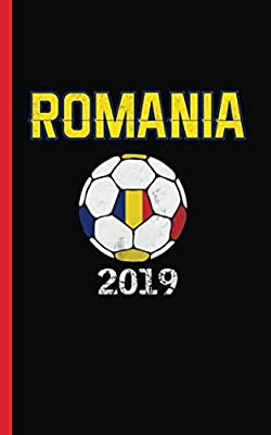 """Romania Flag Soccer Ball Journal - Notebook: Patriotic Romanian DIY Writing Diary Planner Coach or Player Goal Note Book - 100 Lined Pages + 8 Blank Sheets, Small 5x8"""" (Soccer Gear Gifts Vol 2)"""