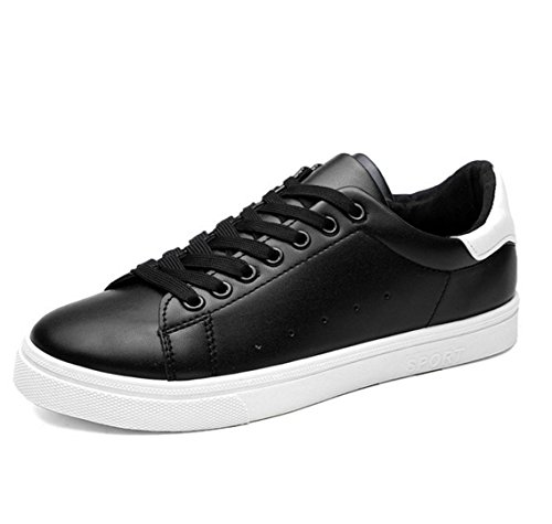 WZG zapatos respirables de los nuevos hombres zapatillas de deporte blancas de los estudiantes jóvenes hombres zapatos Black