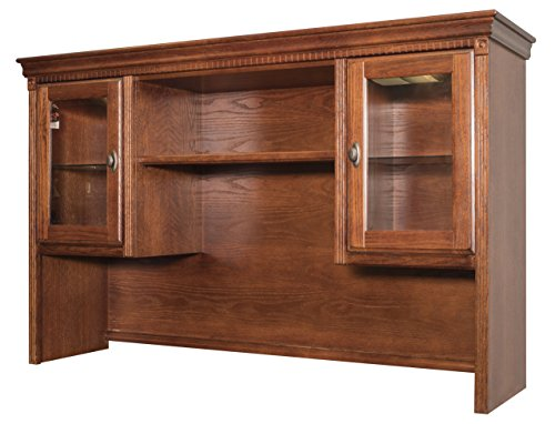 Kathy Ireland Home By Martin Huntington Oxford Storage Hutch, Burnish Finish, Fully Assembled by Martin Furniture