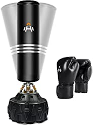 Freestanding Punching Bag with Stand 71 inches 230 pounds with Boxing Gloves Heavy Boxing Bag with 13 Suction