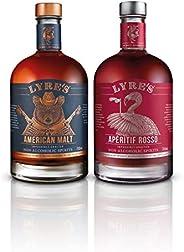 Lyre's Manhattan Non-Alcoholic Set (Pack of 2) | American Malt (Bourbon Style) & Aperitif Rosso (Sweet