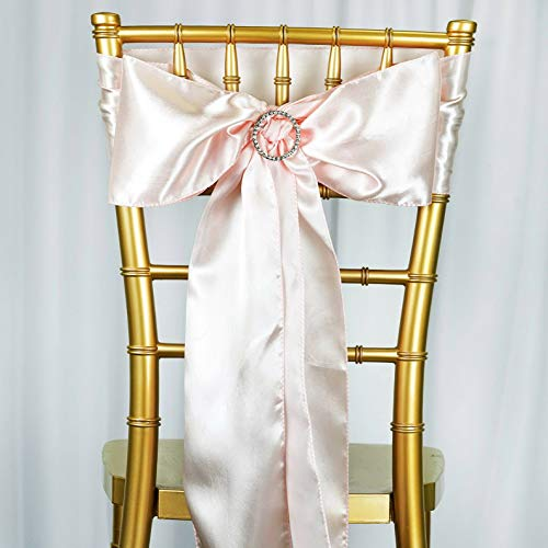 Mikash 25 New Satin Chair Sash Bows Ties Wedding Bridal Party Supplies Decorations Sale | Model WDDNGDCRTN - 10243 |