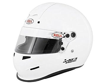 Kart Bell Kart Race kc3-cmr Snell Cadet/Junior aprobado casco blanco 54 cm