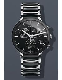 Rado Centrix Chronograph Black Ceramic and Steel Mens Watch R30130152 by Rado