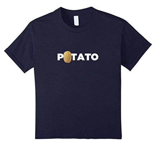 Kids Real Potato Funny Vegetable Food Funny Side Dish T-Shirt 12 Navy