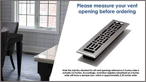 Decor Grates ST212, 2x12 Inch, Textured Black Decor Floor Register, 2x12