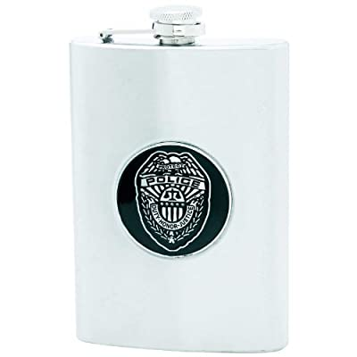 Maxam KTFLKPLS Flask with Police Dept Medal