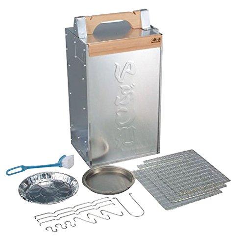 日本製 使い易さを追求した おかもち タイプ スモーカー ( 燻製機  燻製器 ) キャンプ  アウトドア に最適! 手軽に本格的な 燻製 調理が楽しめます 業務用 可   B0723GT9KM