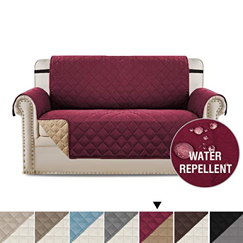 H.VERSAILTEX Reversible Loveseat Slipcover Sofa Loveseat Cover, Chair and a Half Slipcover Couch Slip Cover for Pets, Kids, Seat Width Up to 46