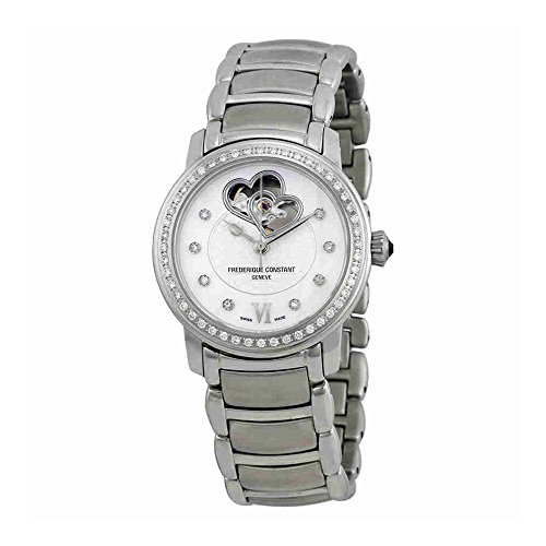 Frederique Constant Women's FC310DHB2PD6B Double Heart Beat Double Heart Beat Ladies Diamond Watch Watch