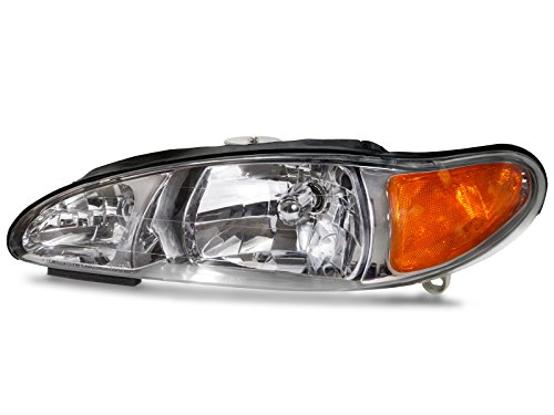 HEADLIGHTSDEPOT Halogen Headlight Compatible with Ford Mercury Escort Not ZX2 Tracer Includes Left Driver Side Headlamp