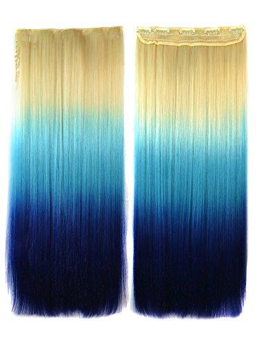 Mehrfarbig Glatt Haarverlängerung Clips In Extensions Stil # N