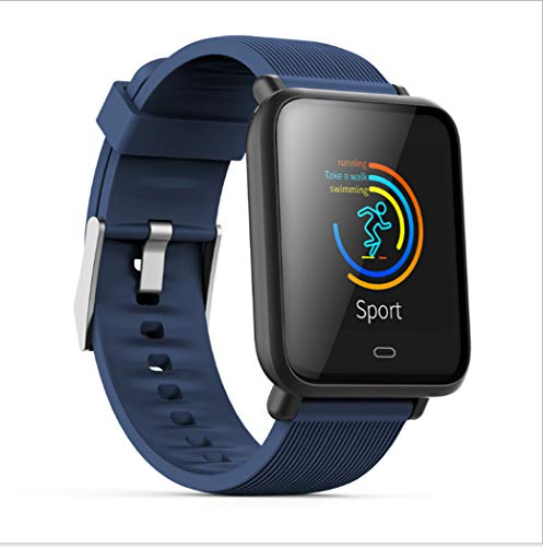 LHFJ Smart Watch Bluetooth 4.0 Fitness Watch IP67 Waterproof OLED Screen Wristwatch for iOS,Android System,Blue by LHFJ