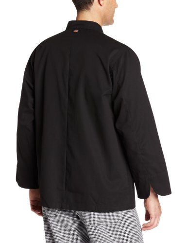Dickies Men's The 8 Button Chef Coat, Black, XX-Large