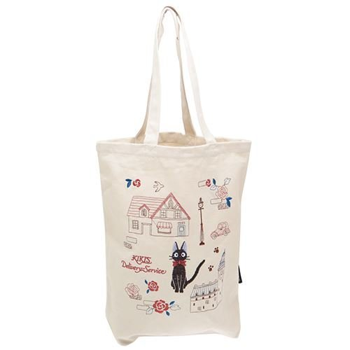 Kiki's Delivery Service Embroidery Cotton Tote Bag ''View of the Town.Jiji'' from Japan by Bly Enterprise