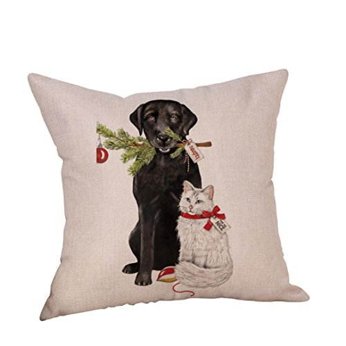 Cute Halloween Pictures Dogs (Christmas Pillow Case, SINMA Festive Cute Dog Cushion Pillowcase Home Sofa Decor Decorative Square Linen Pillow Cover 18x18