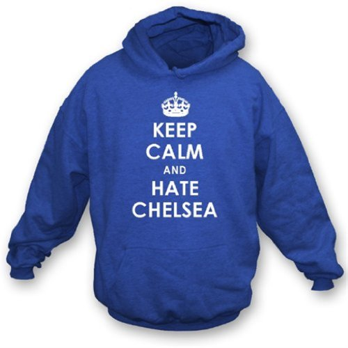 Keep Calm And Hate Chelsea Hooded Sweatshirt QPR X-Large for sale  Delivered anywhere in USA