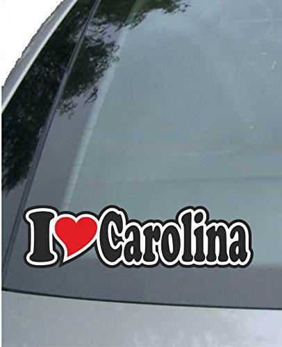 - INDIGOS UG - Car Sticker/Decal/JDM/Die Cut I Love Heart 15 cm - I Love Carolina - Car Truck - Sticker with Name of Man Woman Child