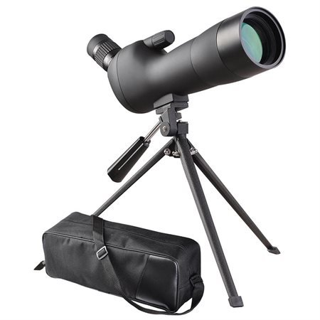 AMPERSAND SHOPS 20-60x Spotting Scope 60 mm Zoom Angled Sharp Image Waterproof Weatherproof Monocular Telescope with Tripod and Carrying Case (Black) by AMPERSAND SHOPS