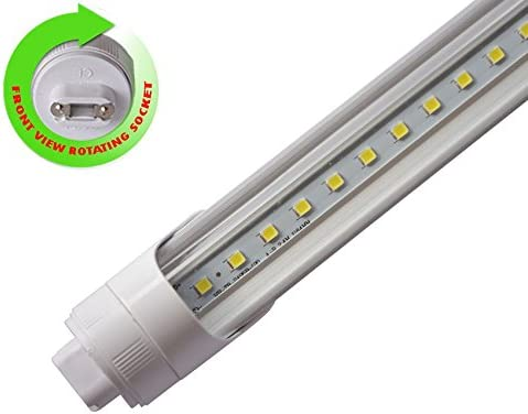 R17D//HO//CW 8 Feet 48 Watt 6500K F96T12//T8 Fluorescent Replacement Clear Lens Tube Light Lot of 10
