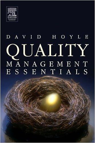 Quality Management Essentials by David Hoyle (2006-12-11)